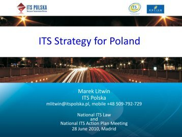 Poland_ITS Strategy for Poland (Marek Litwin).pdf - World ITS ...