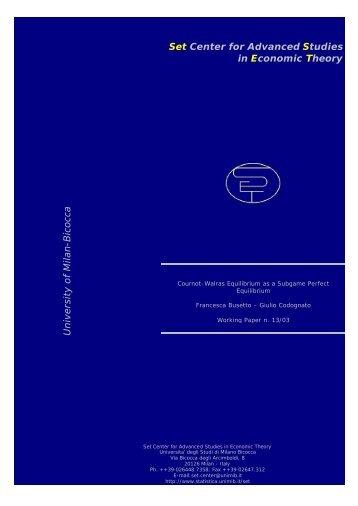 Cournot-Walras Equilibrium as a Subgame Perfect Equilibrium