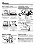 in-line ventilators • 120v read and save these ... - American Coolair - Page 3