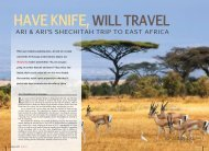 Have Knife Will travel - Halachic Adventures