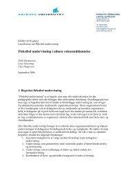 Fleksibel undervisning i almen voksenuddannelse - VBN