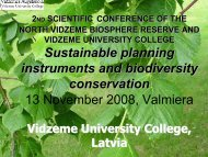 Sustainable planning instruments and biodiversity conservation 13 ...