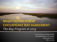 Negotiating a New Chesapeake Bay Agreement
