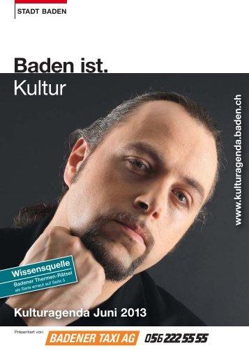 Kulturagenda Juni 2013 - Veranstaltungen - Stadt Baden