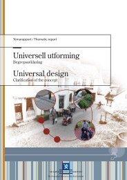 Universell utforming - begrepsavklaring