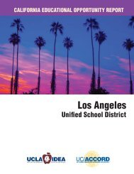 Los Angeles Unified School District Report - UCLA/IDEA