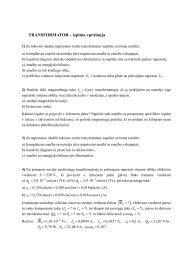 TRANSFORMATOR – izpitna vprašanja - Student Info