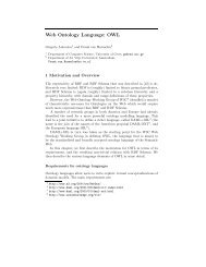 Web Ontology Language: OWL - Vrije Universiteit Amsterdam