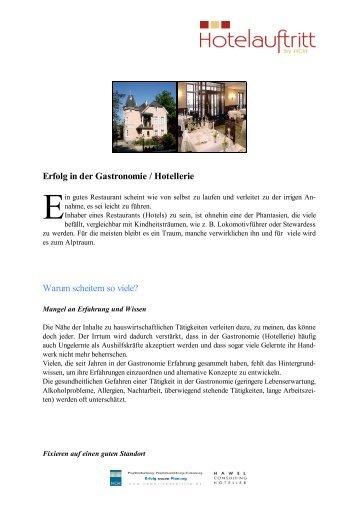 Erfolg in der Gastronomie / Hotellerie - Hotelauftritt
