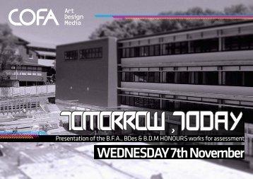 WEDNESDAY 7th November - COFA Sites