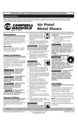 Owners Manual - Air Compressors Direct