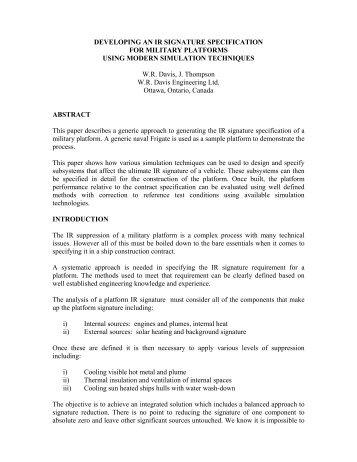 IR Signature Specification.pdf - WR Davis Engineering Ltd.