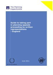 Guide to taking part in planning appeals proceeding by written ...