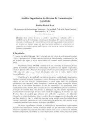 Análise Ergonômica do Sistema de Comunicação ... - Projetos - UFSC