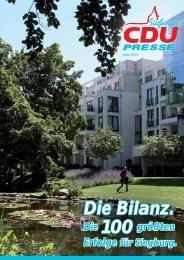 Die Bilanz. - CDU Stadtverband Siegburg