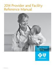 2013 Provider and Facility Reference Manual - HealthNow New York