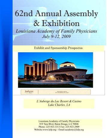 2009 Prospectus - Louisiana Academy of Family Physicians