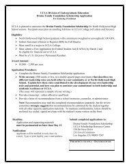 Draine Family Foundation Scholarship - Division of Undergraduate ...