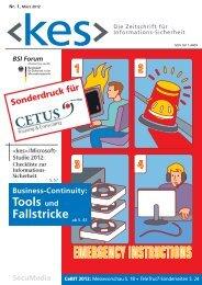 Sicherheit /Microsoft- Studie 2012 - bei der CETUS Consulting ...