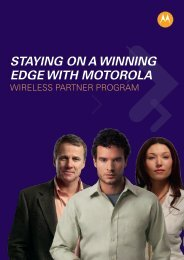 staying on a winning edge with motorola - Wireless Network Solutions