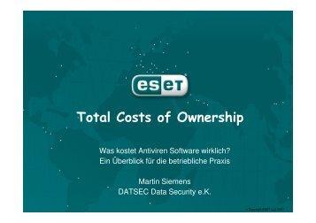 Total Costs of Ownership Total Costs of Ownership - Security-Forum