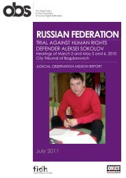 RUSSIAN FEDERATION - FIDH