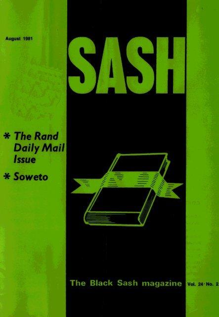 Sash Volume 24 Number 2 August 1981 - DISA