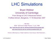 LHC Simulations