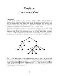 Chapitre 4 Les arbres généraux - UQAC