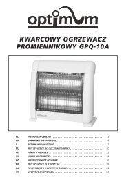 KWARCOWY OGRZEWACZ PROMIENNIKOWY GPQ-10A - Optimum