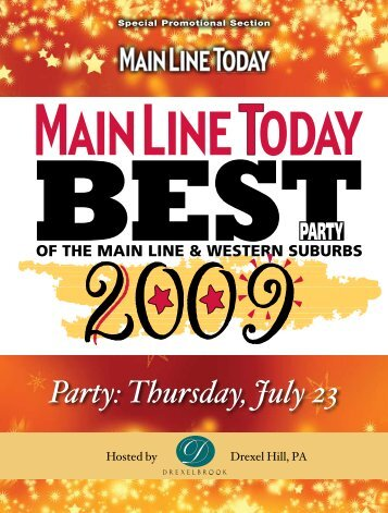 Party: Thursday, July 23 - Main Line Today