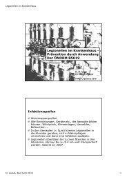 Legionellen im Krankenhaus - Prävention durch Anwendung Der ...