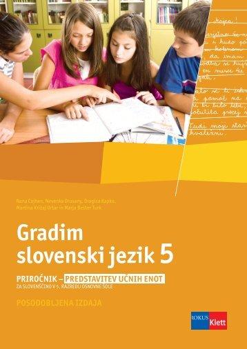 Gradim slovenski jezik 5