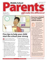 Parents Still make the difference!® (Middle School ... - Sharyland ISD