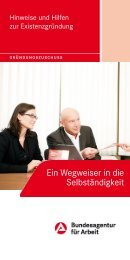 Hinweise und Hilfen zur Existenzgründung - Bundesagentur für Arbeit