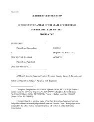 1 CERTIFIED FOR PUBLICATION IN THE COURT OF ... - FindLaw