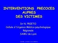 Interventions précoces auprès des victimes Dias Tours