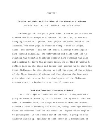 CHAPTER 1 Origins and Guiding Principles of the Computer ... - MIT