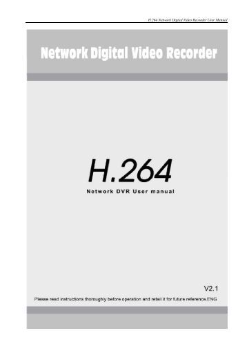 H 264 Network Dvr manual English