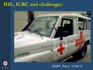 IHL, ICRC and challenges