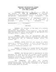 License and Hold Harmless Agreement - City of Springfield