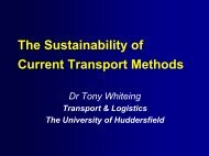 The Sustainability of Current Transport Methods - 3DayCar