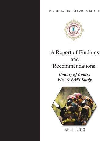Louisa County - Virginia Department of Fire Programs