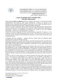 Seduta del 21 settembre 2012 - Università della Valle d'Aosta