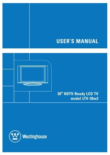 User's Manual - LCD HDTV vs Plasma TVs