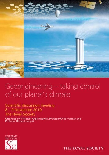 Geoengineering – taking control of our planet's climate
