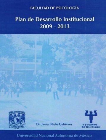 Plan de Desarrollo Institucional 2009-2013 - Dirección General de ...