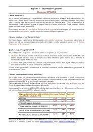 Comunicazione periodica agli iscritti 2005 - Fondo Pegaso