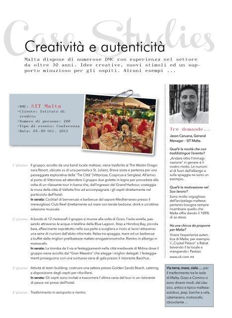 Meet Malta Brochure - Event Report