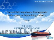 2 Recent regulatory development - ASEF - Asian Shipbuilding Experts